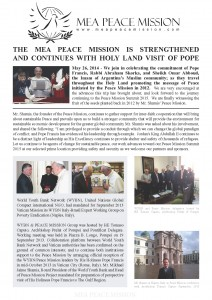 MEA-Peace Mission Newsletter 2014